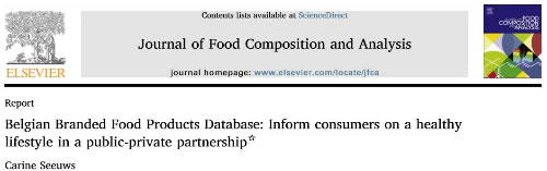 Journal of Food Composition and Analysis, Elsevier
